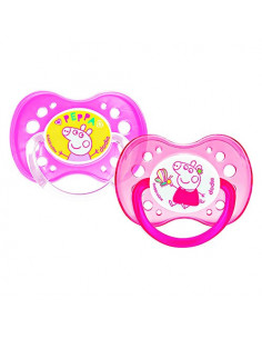 Dodie My First Peppa Pig Sucettes Anatomiques +18m. x2 Peppa/Rose