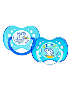 Dodie My First Peppa Pig Sucettes Anatomiques +18m. x2 George/Bleu
