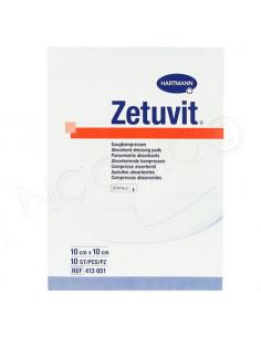 Zetuvit Pansements Absorbants Hartmann. 10 pièces 10x10cm