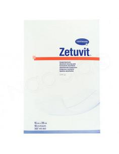 Zetuvit Pansements Absorbants Hartmann. 10 pièces 15x20cm