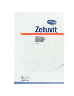 Zetuvit Pansements Absorbants Hartmann. 10 pièces 20x25cm