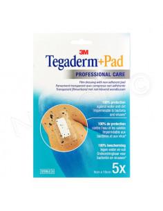 3M Tegaderm+Pad Pansement transparent avec compresse. x5 9 x 10 cm