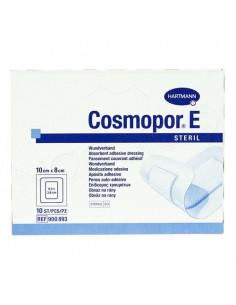 Cosmopor E Steril Pansement Couvrant Adhésif. Boite de 10 10x8cm