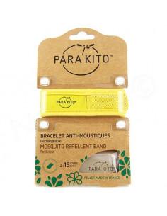 Para'Kito Bracelet Anti-moustiques rechargeable Nouvelle Formule + 2 plaquettes jaune