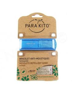 Para'Kito Bracelet Anti-moustiques rechargeable Nouvelle Formule + 2 plaquettes bleu