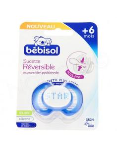 Bébisol Sucette Réversible +6mois x1 bleu