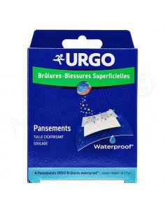 Urgo Pansements Brûlures - Blessures Superficielles Stériles Waterproof Boite 4 pansements grand format