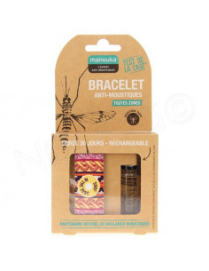 Manouka Bracelet Anti-moustiques Multicouleurs Surf in the Tube