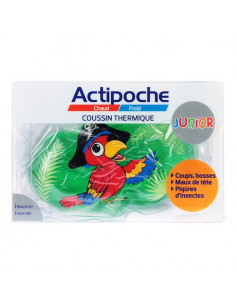 Actipoche Coussin Thermique Junior Animaux. x1 Perroquet