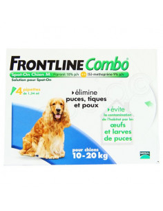 Frontline Combo Antiparasitaire Double Protection Chiens 10-20kg