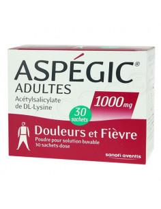 Aspégic Adultes 1000mg 30 sachets-dose