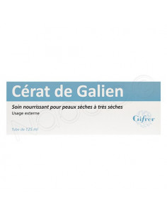 Gifrer Cérat de Galien Cold Cream Soin Nourissant Peaux Sèches à Très Sèches 125 ml