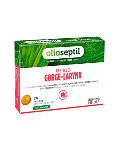 Olioseptil Gorge-Larynx. 24 Pastilles Miel Eucalyptus