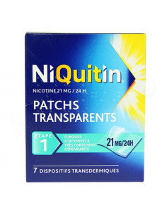 Niquitin 21mg / 24h Patchs transparents