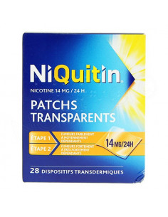 Niquitin Patchs transparents 14mg/24h