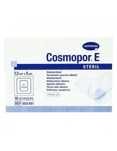 Cosmopor E Steril Pansement Couvrant Adhésif. Boite de 10