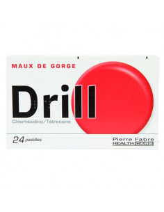 Drill Pastilles Maux de Gorge Chlorhexidine/Tétracaïne. 24