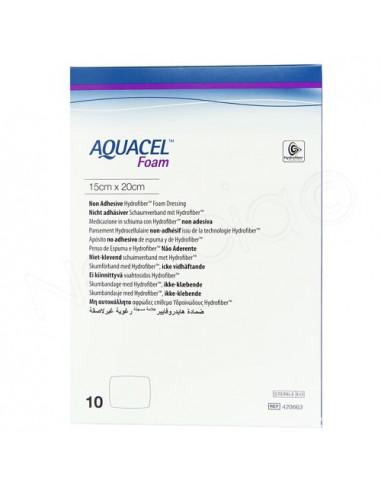 Aquacel Foam Pansement Hydrocellulaire adhésif. Boite de 10