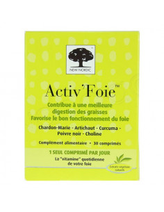 New Nordic Activ'Foie. 30 comprimés