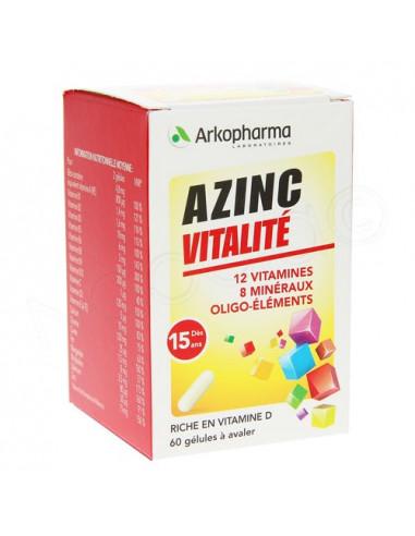 Azinc Forme et Vitalité 12 Vitamines 8 Minéraux Oligo-éléments