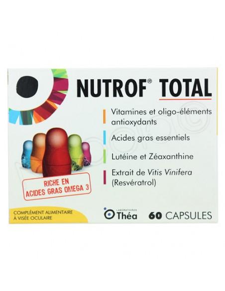 Nutrof Total Complément alimentaire à Visée Oculaire. 60 capsules