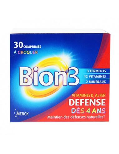 BION 3 Junior. Boîte de 30 comprimés à croquer goût framboise - ACL 4629404