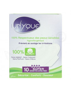 Unyque Serviettes Extra-Fines 100% coton x10