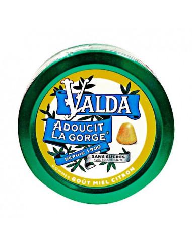 Valda Gommes à Mâcher Sans Sucres Goût Miel Citron