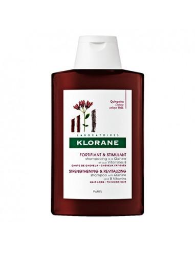 Klorane Shampooing Traitant Fortifiant à La Quinine et aux Vitamines B - Flacon de 200 ou 400 ml