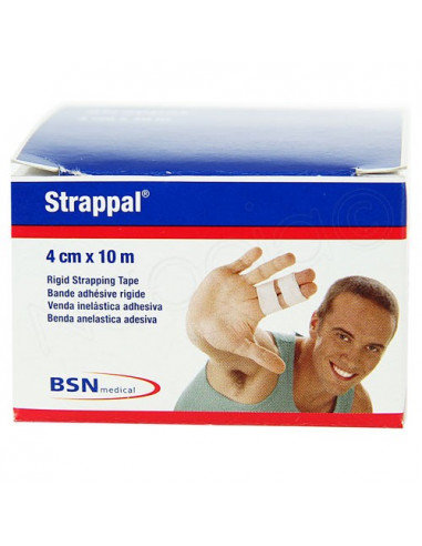 Strappal Latex Free Bande Adhésive Rigide 10m. x1