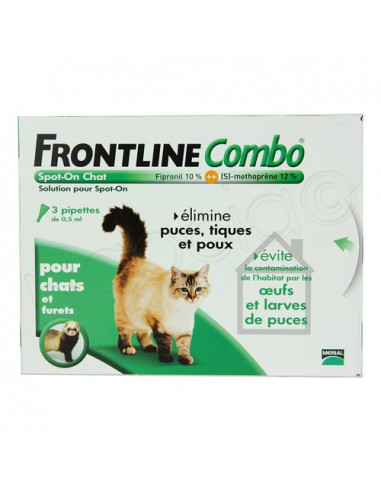 Frontline Combo Antiparasitaire Double Protection. Chiens et Chats