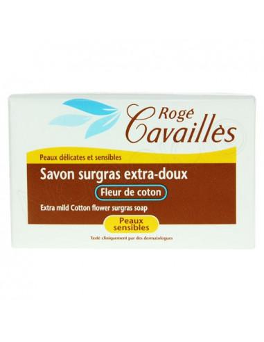 Rogé Cavailles Savon surgras extra-doux Fleur de coton. Pain de 150g - ACL 7528359