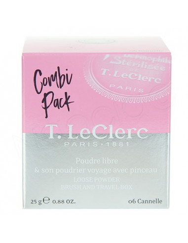 T.LeClerc Combi Pack Poudre Libre Plus Poudrier voyage avec pinceau. 25g