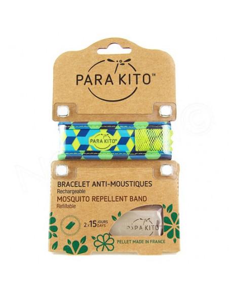 Para'Kito Bracelet Anti-moustiques rechargeable Nouvelle Formule Plus 2 plaquettes