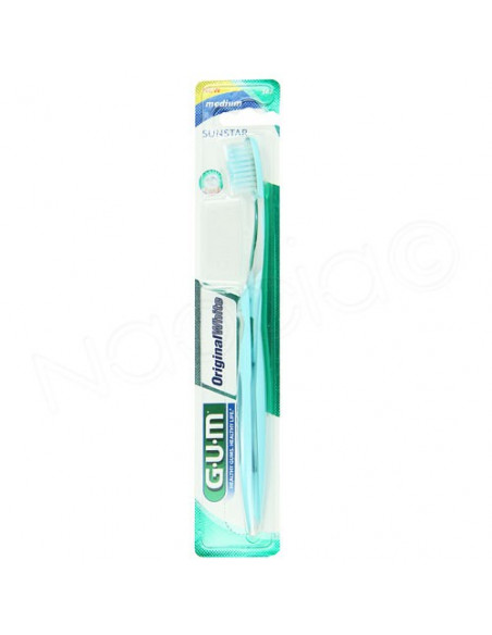 Gum Brosse à dents Sunstar Original White Medium 563 Plus capuchon