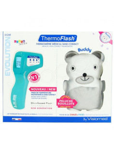 ThermoFlash Thermomètre Médical Sans Contact Evolution Color Series LX-26E Plus Peluche OFFERTE