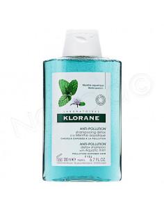 Klorane Shampooing Détox Menthe Aquatique Anti-pollution