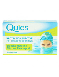 Quies Protection Auditive Silicone Natation. 3 paires
