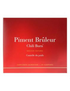Piment Brûleur Chili Burn Contrôle du poids. Boite 60 comprimés