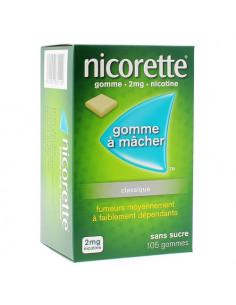 Nicorette 2mg, Classique Sans Sucre, 105 gommes
