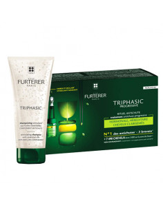 René Furterer Triphasic Progressive Traitement antichute 12 ampoules + Shampooing 100ml OFFERT René Furterer - 1