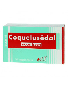 Coquelusédal Nourrisson. 10 suppositoires