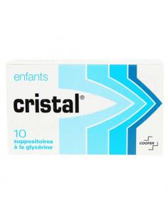Cristal Enfants. 10 suppositoires à la glycérine