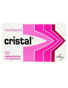 Cristal Nourrissons. 10 suppositoires à la glycérine