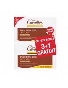 Rogé Cavaillès Savon surgras extra-doux Lot 4x250g Lait et Miel Rogé Cavaillès - 1