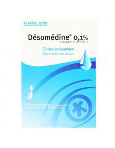 Désomédine 0.1 pour cent collyre antiseptique 10 flacons multidoses de 0.6ml