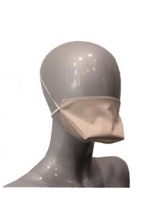 Velvet Bellus Masque Barrière Lavable Réutilisable Beige - Bec de canard  - 1