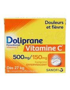 Doliprane Vitamine C 500mg/150mg 16 comprimés effervescents