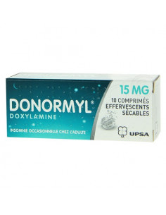 Donormyl Doxylamine 15mg Insomnie 10 comprimés effervescents sécables