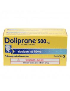 Doliprane paracétamol 500 mg 16 comprimés effervescents Doliprane - 1